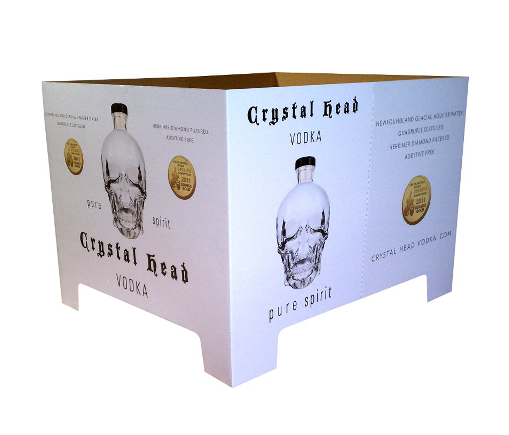 CrystalHead Vodka Box Display